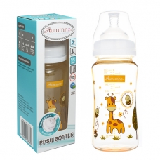 Autumnz - PPSU Wide Neck Feeding Bottle 10oz/300ml (Single) *Jovial Giraffe*