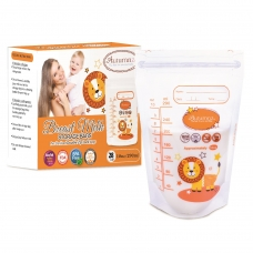 Autumnz - Double ZipLock Breastmilk Storage Bag (28 bags) *10oz* ( LION )