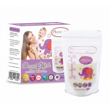 Autumnz - Double ZipLock Breastmilk Storage Bag (28 bags) *3.5oz* (ELLIE ELEPHANT)
