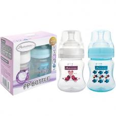 Autumnz - PP Wide Neck Feeding Bottle 4oz/120ml (Twin Pack) *Tweety / Marine Blue*