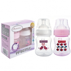 Autumnz - PP Wide Neck Feeding Bottle 4oz/120ml (Twin Pack) *Tweety / Marine Pink*