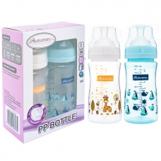 Autumnz - PP Wide Neck Feeding Bottle 8oz/240ml (Twin Pack) *Jovial Giraffe / Nautica*