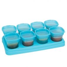 EASY Breastmilk & Baby Food Storage Cups (2oz)- Ocean Blue