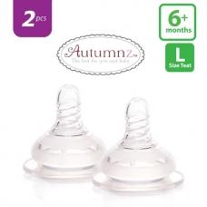 Autumnz - Soft Silicone Teat  FAST Flow *2pcs* (6+ months /Round Hole)