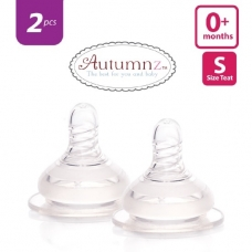 Autumnz - Soft Silicone Teat  SLOW Flow *2pcs* (0+ months /Round Hole)