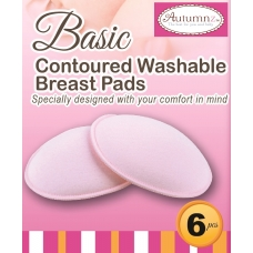 Autumnz- Basic Washable Breastpads (Pink) - 6 pcs