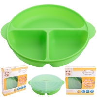 Autumnz - Baby Divided Plate With Lid (Green)