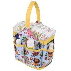 Autumnz Portable Diaper Caddy - Fun Safari