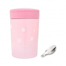 Autumnz - Chic Stainless Steel Food Jar 500ml *Sweet Pink* (FOC Folding Spoon)
