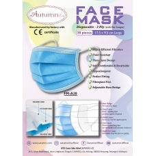 Autumnz - ADULT Disposable Face Mask (3 Ply) with Ear Loops  *17.5 x 9.5 cm (LARGE)* - 20pc/pack