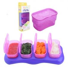 EASY Breastmilk & Baby Food Storage Cups (4oz) -  Plum