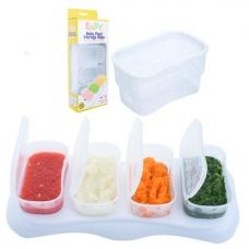 EASY Breastmilk & Baby Food Storage Cups (4oz) - White