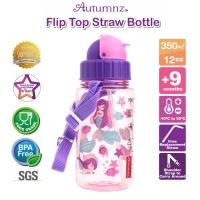 Autumnz - Flip Top Straw Bottle 350ml /12oz *Lil Mermaids* (Best Buy)