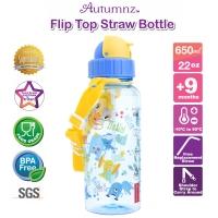 Autumnz - Flip Top Straw Bottle 650ml /22oz *Coolest Aliens* (Best Buy)