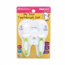 Autumnz - My First Toothbrush Set (Stage 1 & 2) *Green* Best Buy