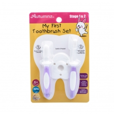 Autumnz - My First Toothbrush Set (Stage 1 & 2) *Lilac* Best Buy