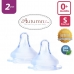 Autumnz - MAXY Soft Silicone Teat SLOW Flow *2pcs* (0+ months / Round Hole)