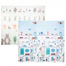 Autumnz - PE Foldable Baby Playmat (Size L: 200cm x 180cm x 1cm) *Busy City / Happy Bear*