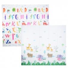 Autumnz - PE Foldable Baby Playmat (Size L: 200cm x 180cm x 1cm) *Jungle Safari / Alphabets*