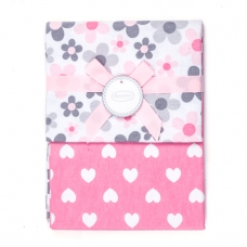 Autumnz - 2-pack Flannel Receiving Blanket *Garden Hearts*
