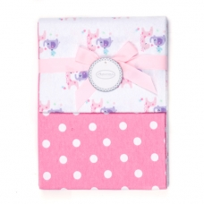 Autumnz - 2-pack Flannel Receiving Blanket *I Love You*