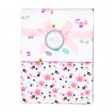 Autumnz - 2-pack Flannel Receiving Blanket *Owlie Flowers*
