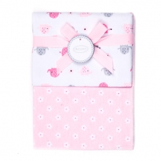 Autumnz - 2-pack Flannel Receiving Blanket *Pinky Ellie Elephants*