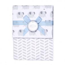 Autumnz - 2-pack Flannel Receiving Blanket *Ziggy Elephants (Grey)*
