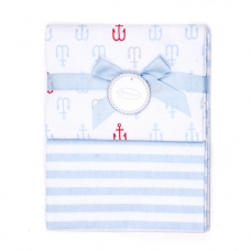 Autumnz - 2-pack Flannel Receiving Blanket *Anchor Stripes*