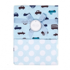 Autumnz - 2-pack Flannel Receiving Blanket *Dotty Vehicles""