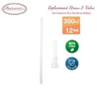 Autumnz - Replacement Straw & Valve (For Autumnz Flip Top Straw Bottle 350ml) *Best Buy*