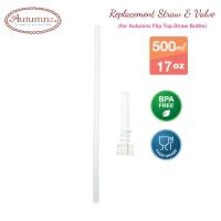 Autumnz - Replacement Straw & Valve (For Autumnz Flip Top Straw Bottle 500ml) *Best Buy*