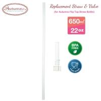 Autumnz - Replacement Straw & Valve (For Autumnz Flip Top Straw Bottle 650ml) *Best Buy*