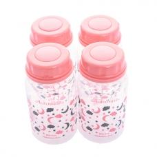Autumnz - Standard Neck Breastmilk Storage Bottles *5oz* (4 btls) - Lulllaby *Melon Pink*