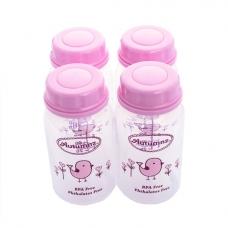 Autumnz - Standard Neck Breastmilk Storage Bottles *5oz* (4 btls) - Tweety Birds *Pink*