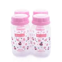 Autumnz - Standard Neck Breastmilk Storage Bottles *5oz* (4 btls) - Ladybird *Pink*