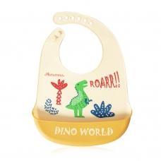 Autumnz Adjustable Soft Silicone Bib *Dino World* (6m+)