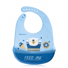 Autumnz Adjustable Soft Silicone Bib *Feed Me* (6m+)