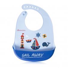 Autumnz Adjustable Soft Silicone Bib *Sail Away* (6m+)