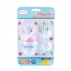 Autumnz Silicone Fresh Food Feeder (Pink) *comes with 3 Silicone Sacs S, M & L*