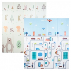 Autumnz - PE Foldable Baby Playmat (Size M: 180cm x 160cm x 1cm) *Busy City / Happy Bear*