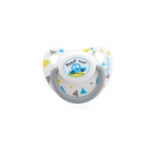 Autumnz Orthodontic Baby Silicone Soother With Hygiene Cover *Beep Beep* (Single) *Size S/M/L*