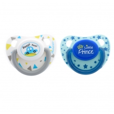 Autumnz Orthodontic Baby Silicone Soother With Hygiene Cover *Beep Beep/Little Prince* (Twin Pack) *Size S/M/L*