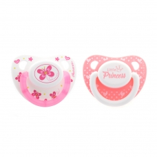Autumnz Orthodontic Baby Silicone Soother With Hygiene Cover *Butterfly/Little Princess* (Twin Pack) *Size S/M/L*