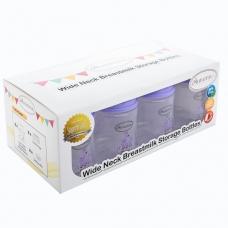 Autumnz-Wide Neck Breastmilk Storage Bottles *5oz* (8 btls) - Giraffe *Lilac*