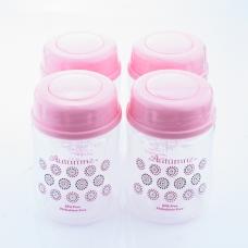 Autumnz-Wide Neck Breastmilk Storage Bottles *5oz* (4 btls) - *Lil Pink/Grey Dots*
