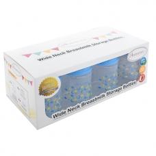 Autumnz-Wide Neck Breastmilk Storage Bottles *5oz* (8 btls) - Lullaby *Victoria Blue*