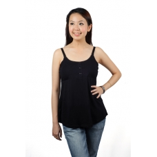 Autumnz- ADELE Padded Maternity/Nursing Tank *Black*