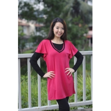 (Clerance) Autumnz - Alexa 2-in-1 Maternity/Nursing Top (Rose/Black)