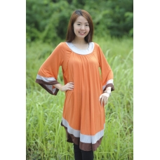 SALE:AUTUMNZ-Arabella 2-in-1 Maternity/Nursing Tunic (Tangerine)